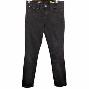 J. Crew Black Toothpick Ankle Skinny Jeans